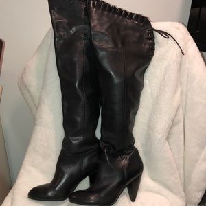 BCBG long black heeled boot size 7 1/2